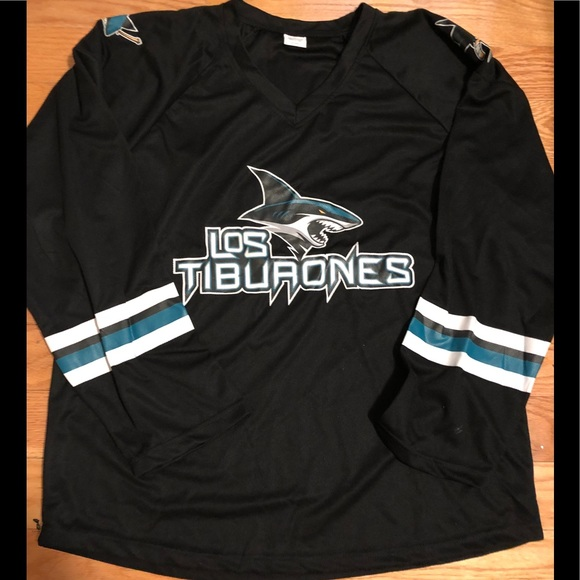 sports shoes 84575 286f5 san jose sharks los tiburones jersey